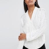 Блуза в пайетки, ASOS, L