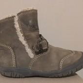 теплые ботинки на меху, 100% кожа, р.26, 16,5см