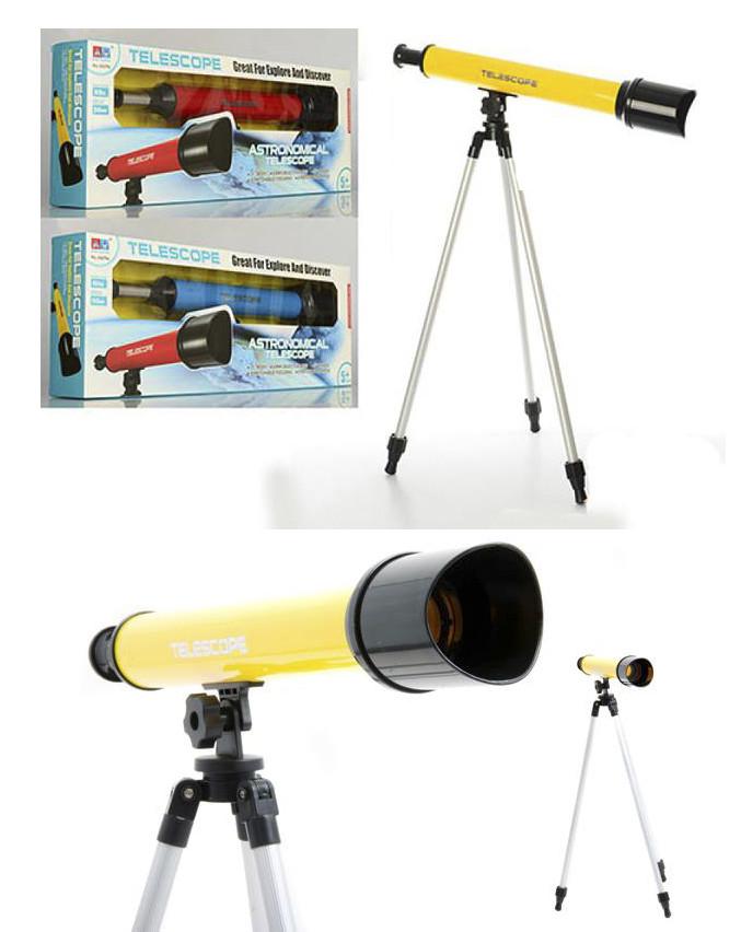 Телескоп bambi 6609a, штатив 57см, в наличии - желтый фото №1