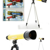 Телескоп Bambi 6609A, штатив 57см, в наличии - желтый и красный