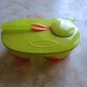Детский двойной контейнер с ложкой