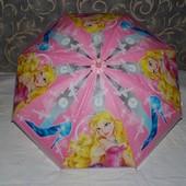 Зонтик зонт детский с яркими героями матовый яркий и весёлый Принцессы Разные