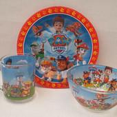 Детский набор посуды Щенячий патруль,3 предмета