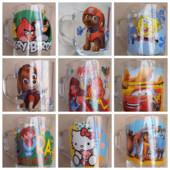 Детские кружки из стекла с мультигероями