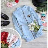 Женская куртка с пришивной лейбой в расцветках С,М,Л (8н