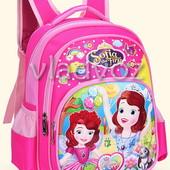 Школьный рюкзак для девочек в первый класс и дошкольников Sofia розовый