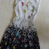 Красивое платье с юбкой плиссе Oasis, р.10