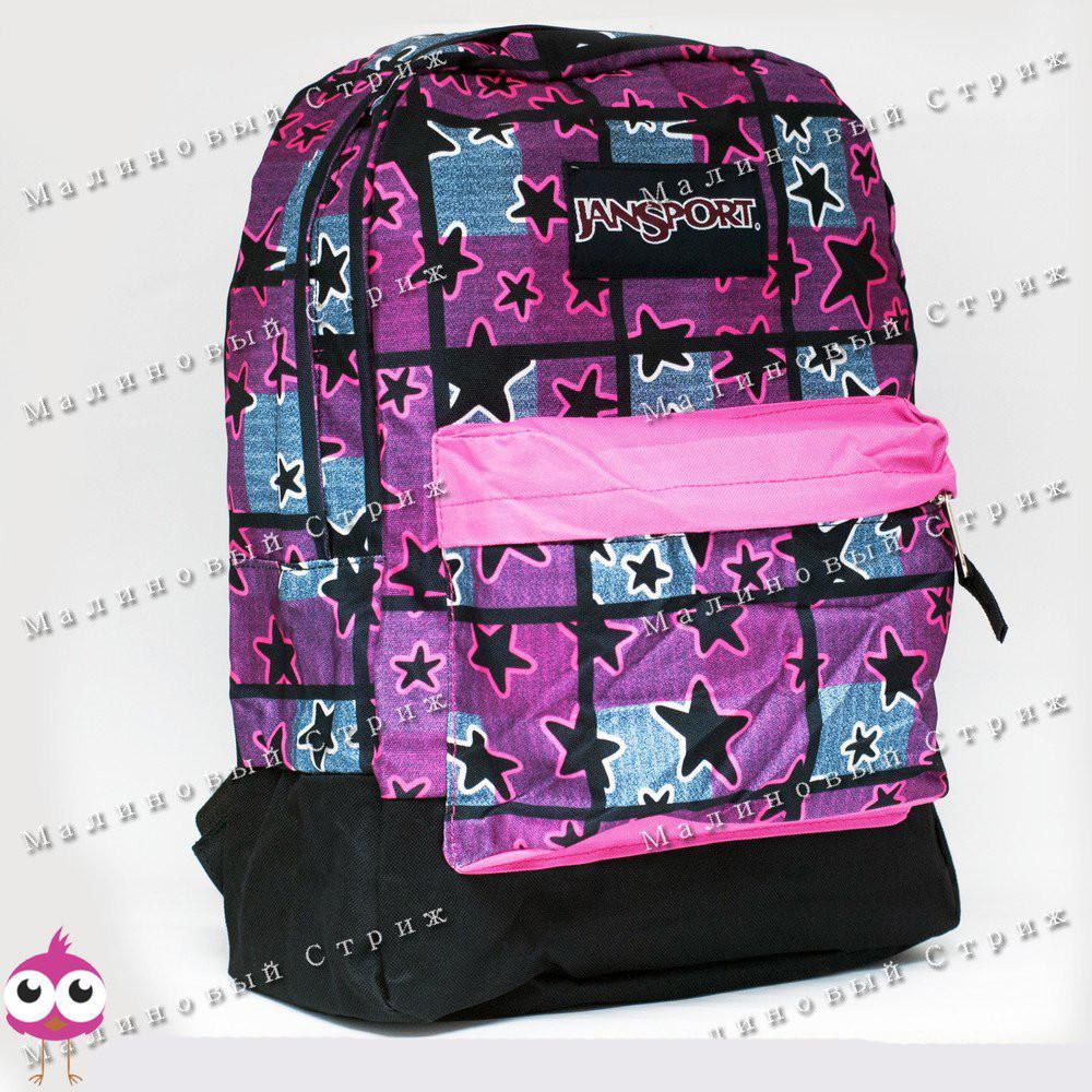 Молодежный рюкзак jansport-105, 40х30х15см, наружный карман, уплотненная спинка фото №1