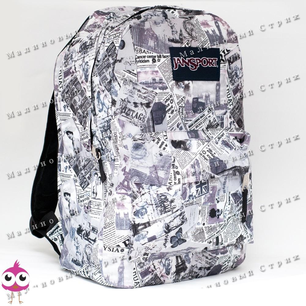 Молодежный рюкзак JanSport-108, 40х30х15см, наружный карман, уплотненная спинка, школьный рюкзак фото №1