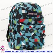 Молодежный рюкзак JanSport-112, 40х30х15см, наружный карман, уплотненная спинка, школьный рюкзак