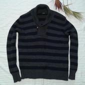 Отличный теплейший свитер кофта от Zara man,p.XL