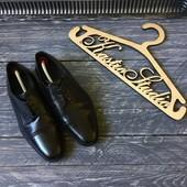Кожаные мужские туфли-дерби M&S р-р 40