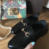 Лоферы мокасины Gucci (туфли Гуччи, мюли Гучи)