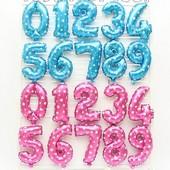 Надувные шарики цифры фольгированные, шары для праздника день рождения годовщины