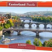 Пазлы 4000 Город на реке три моста Prague С-400096 Castorland касторленд Польша