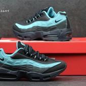 Кроссовки  Nike Air Max 95 чорні з голубим