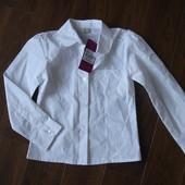 Фирменная TU нарядная школьная рубашка девочке 7 лет