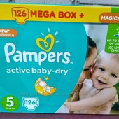 Подгузники Pampers active baby-dry  Giant Box Plus мегапак