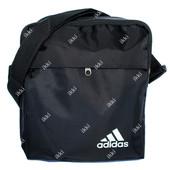 Тканевая спортивная сумка черного цвета Adidas (А-06)