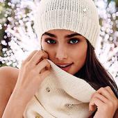 Victoria's Secret белоснежный новый набор- шапочка и хомут в стразах Сваровски