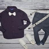 2 - 3 года 92 - 98 см Фирменная рубашка модная классика для мальчика