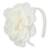 Обруч с белым цветком childrensplace