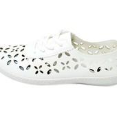 Мокасины женские Violeta 4-338 белые