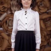 Школьная форма, Zironka, Классическая белая блуза с длинным рукавом