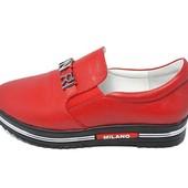 Слипоны женские Anri De Collo 414/123 красные