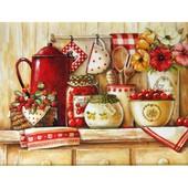 Картина по номерам Роспись на холсте Домашние сладости Вкусная полочка KH2208 без коробки