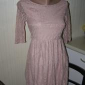 Atmosphere кружевное платье цвет пудра S-размер.
