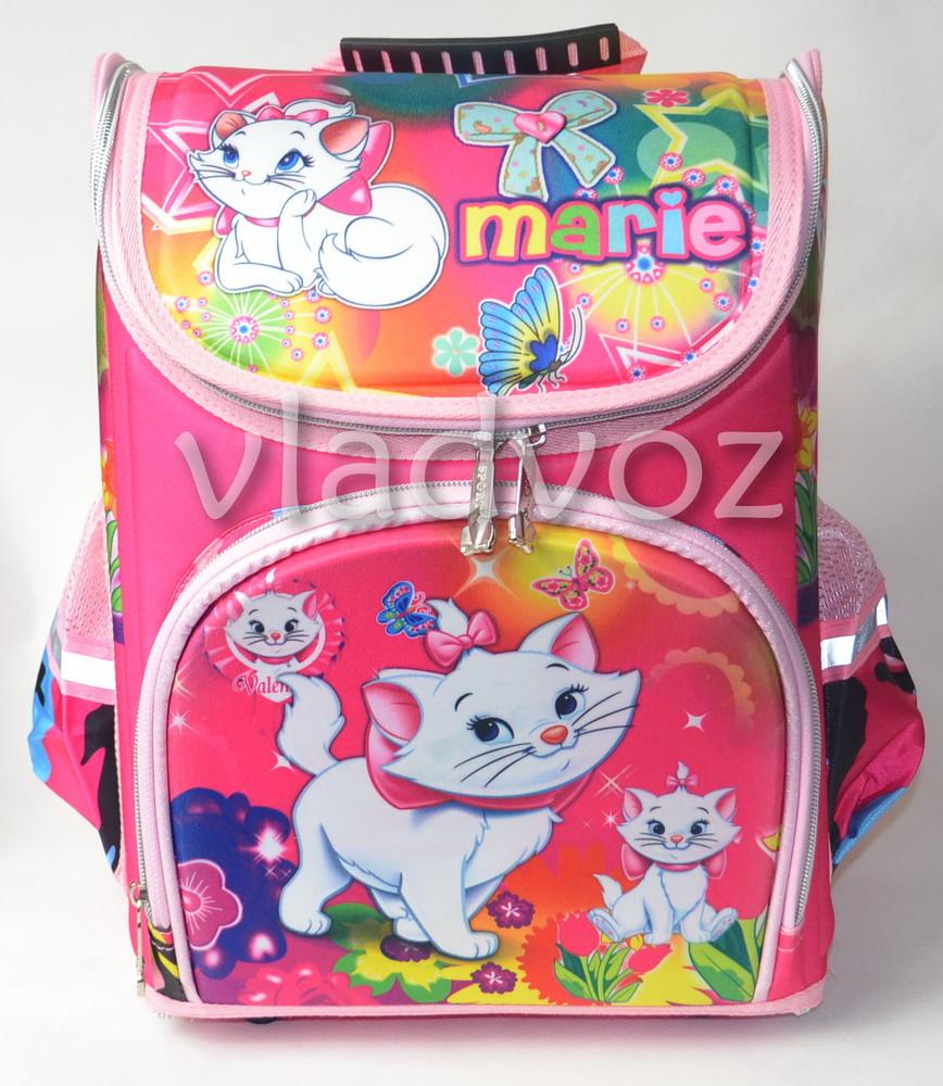 Школьный каркасный рюкзак для девочек Marie розовый 3423 фото №1