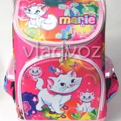 Школьный каркасный рюкзак для девочек Marie розовый 3423