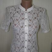 Simplicity кружевная блуза белого цвета S-размер