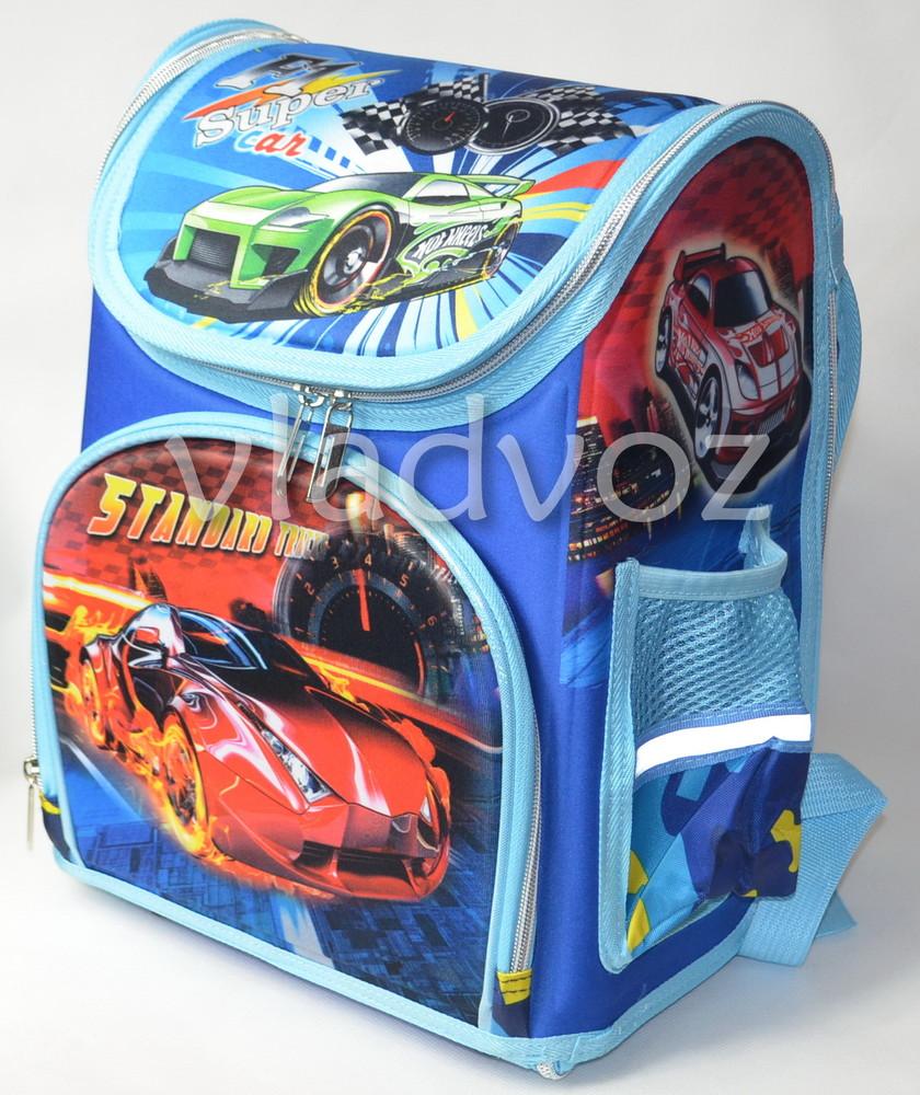 Школьный каркасный рюкзак для мальчиков Super car синий 3422 фото №1