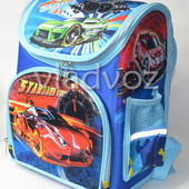 Школьный каркасный рюкзак для мальчиков Super car синий 3422