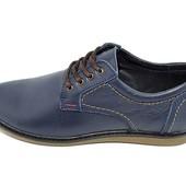 Туфли подростковые кожа Multi-Shoes Footwear Ray синие
