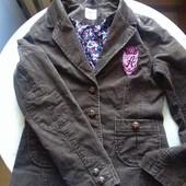 Стильный вельветовый пиджак фирмы H&M размер XS S (подростковый 14+)