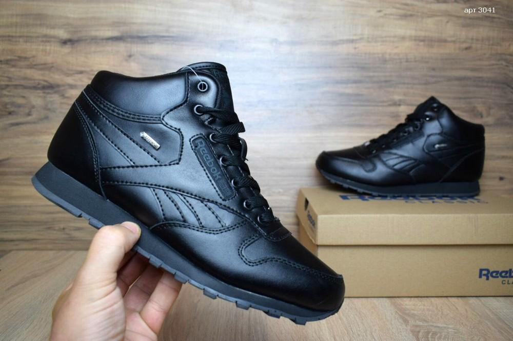 Зимние кроссовки высокие Reebok Classic black фото №1