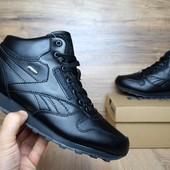 Зимние кроссовки высокие Reebok Classic black