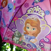 Принцесса София! Замечательный зонт зонтик трость для девочки 3-8 лет