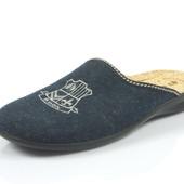 100-2-004 , Тапочки мужские домашние Inblu Инблу , цвет - синий, размеры 40-46