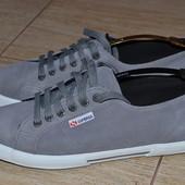 Superga 43/5-44р мокасины кроссовки кожаные. (качество Converse)