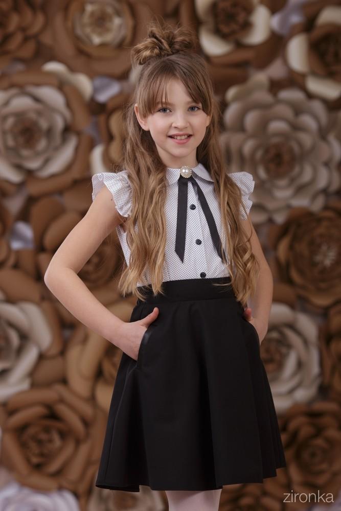 Школьная форма, zironka, школьная юбка с карманами синяя р , 140 фото №1
