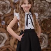 Школьная форма, Zironka, Школьная юбка с карманами синяя р , 140