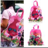 Яркая детская сумочка-рюкзак Розочка (Тролли), новые