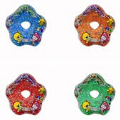 Детский надувной круг на шею для младенцев 4цвета R414 диаметр внутри 10см диаметр снаружи 38см
