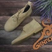 Классические мужские ботинки чукка Kurt Geiger в песочном оттенке  SH3109