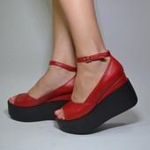 туфли кожа натуральная Модель: 21700-80-П, красная кожа