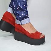 туфли замша натуральная Модель:21700-80, красный замш